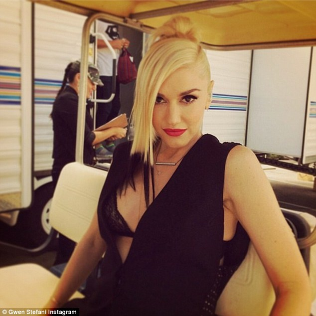 So fresh! Gwen showed off her new dip-dyed locks during a behind-the-scenes snap