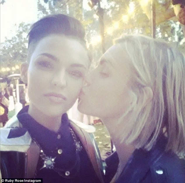 Ruby Rose Cheekily Grabs Fiance Phoebe Dahl On The Chest