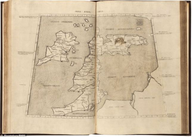 The British Isles as portrayed in Cosmographia