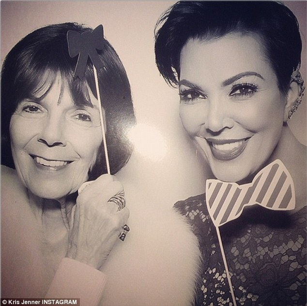 'One of my life's biggest blessings!' Kim's mother Kris Jenner posted a snap of herself with her mother Mary Jo Campbell, smiling alongside one another in a photo booth