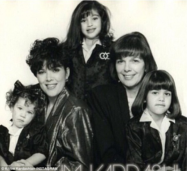 All the girls! Khloe posted a throwback snap of her, Kim, Kourtney, mother Kri and grandmother Mary Jo on Mother's Day
