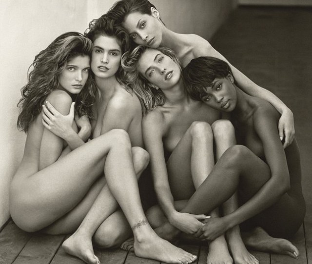 Iconic Herbs Ritts Famous Photo Of Nude Supermodels Among Them Cindy Crawford And