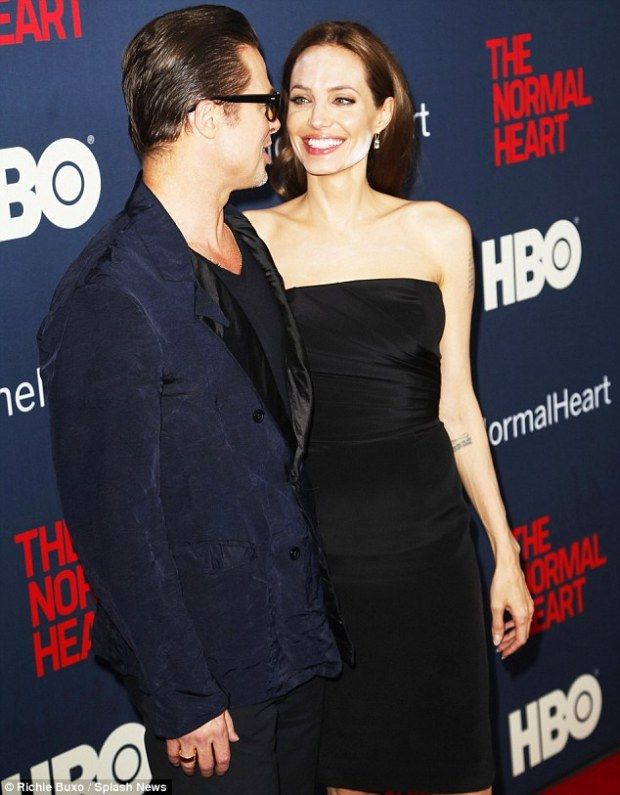 Crazy In Love: Despite make-up hiccup, Angelina looked to be in high spirits as she accompanied Brad to the premiere of his latest producing project on Monday