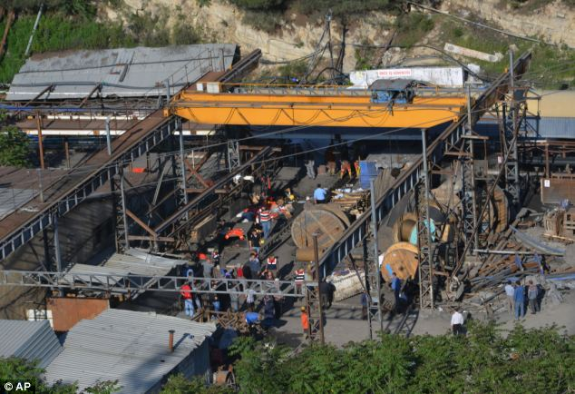 Energy Minister Taner Yildiz said: 'It is a serious accident. Our priority is to reach our miner brothers'