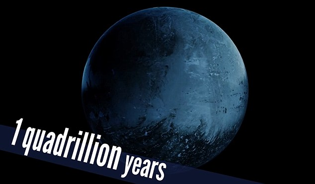 In 110 trillion years all stars will have died out while in a quadrillion years our planet, now a lifeless hunk of rock, will fall into what is left of the sun (now a black dwarf) as its orbit decays