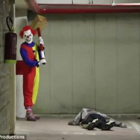 Italian Prank Duo Terrify With Clown Costumes