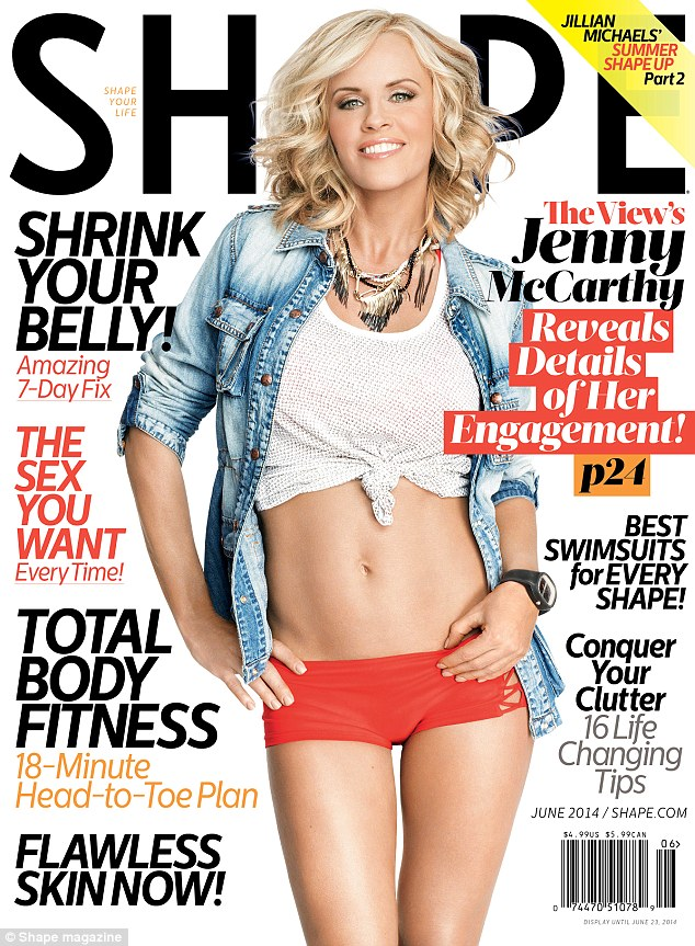 In good Shape! Jenny shows off her tanned and toned body in the latest issue of the healthy and fitness magazine