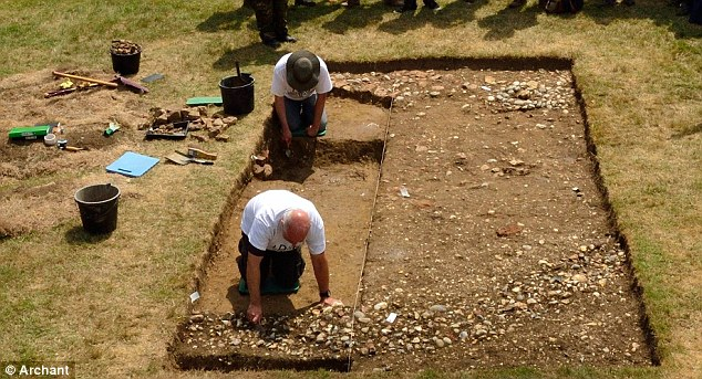 The bones of the giant dog were found during a dig among the ruins of Leiston Abbey in Suffolk