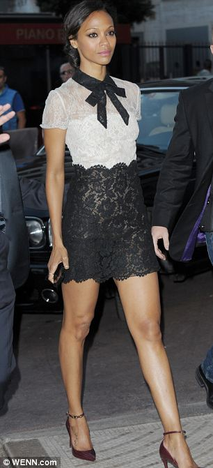 Showstopping: Blake Lively and Zoe Sardana later wowed in minidresses as they arrived at the Martinez Hotel