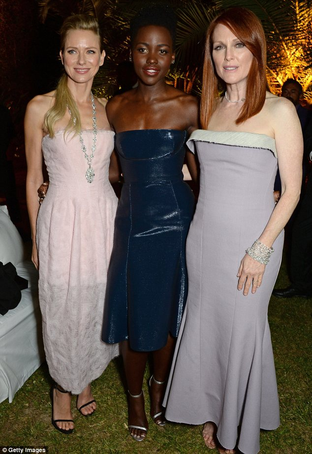 Star attractions: The actresses were guests of honour at the bash held by Calvin Klein