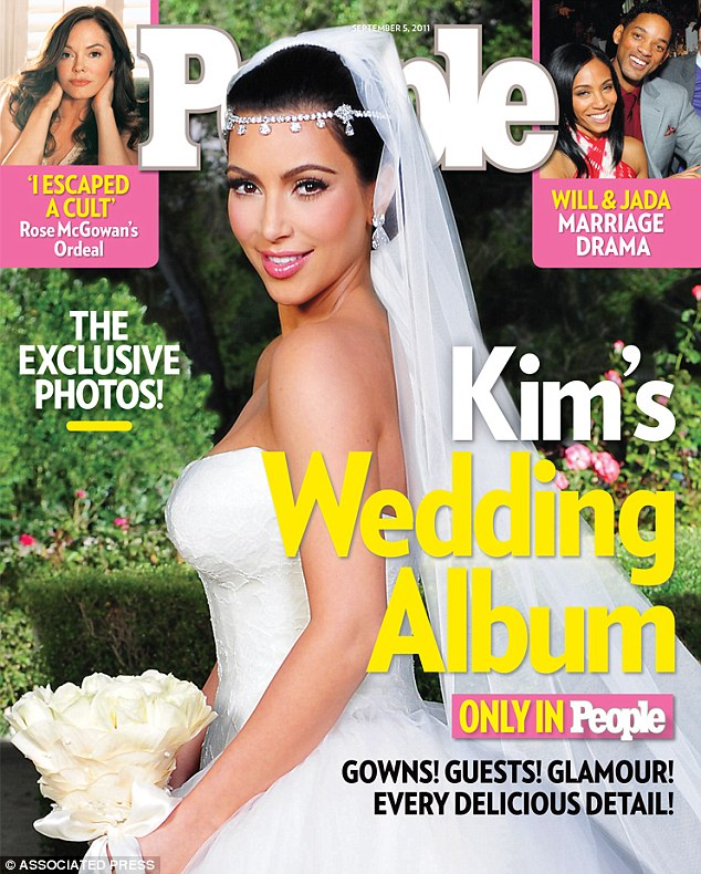 In the past: Kim wore a custom-made Vera Wang gown for her wedding to Kris Humphries, but this time it will be completely different. '[Kanye] doesn't want any comparisons to Kim's past wedding dresses,' said a source