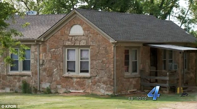 House of horrors: Authorities say the boy was found locked in a small room in this home in El Reno, Oklahoma