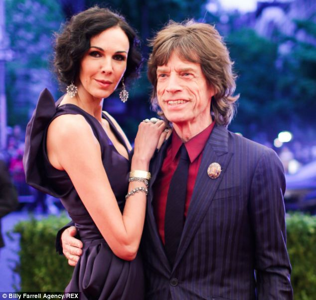 Sir Mick with partner L'Wren Scott - the 49-year-old US fashion designer who hanged herself at her Manhattan apartment earlier this year