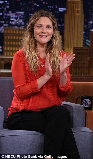 Movie publicity: The 39-year-old appeared on the show to promote her new movie Blended