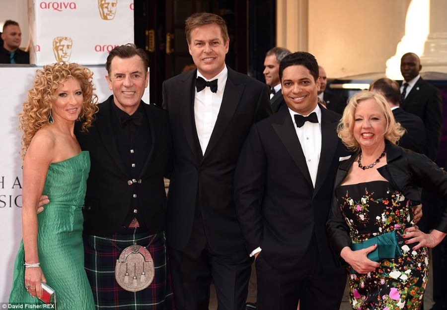 What a bunch of Dragons! Dragons' Den stars Kelly Hoppen, Duncan Bannatyne, Peter Jones, Piers Linney and Deborah Meaden made for a well-dressed group as they rocked the red carpet at the star-studded television event
