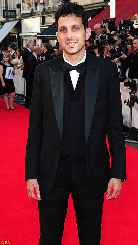 No funny business: Dynamo star Steven Frayne tweeted: 'At the #Baftas up for best entertainment show! Thanks for all the support'