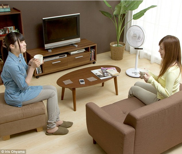 Japanese manufacturer Iris Ohyama has released its new automated fan that can track humans with an infrared sensor. It is able to turn up to 85° and blast people with air, rather than other fans that turn and blow into an empty room. If it detects no-one within range for about a minute, it will shut down and stop blowing air