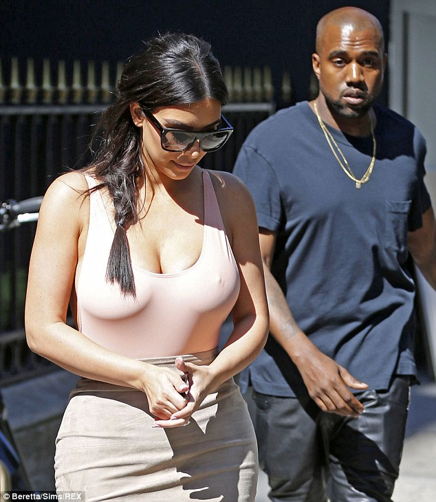 Me and my girl: Kanye would no doubt have been absolutely proud as punch to have had stunning Kim on his arm as they prepare to tie the knot
