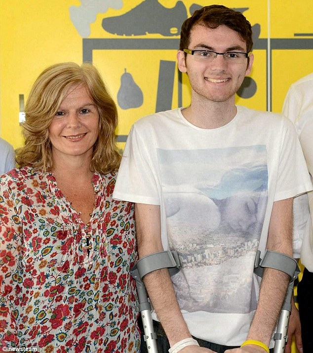 Stephen Sutton with his mother Jane whilst Prime Minister David Cameron visited him