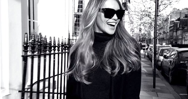 On the move: Speaking about the inspiration behind her new range, Elle said: 'I'm on the run a lot and if I'm not nourished, I don't feel good'