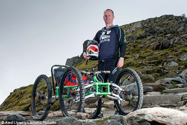 Gower College engineering lecturer Calvin Williams (pictured) has designed and built a four-wheeled mountain bike known as Project Enduro. He decided to start the project, giving disabled people the chance to mountain bike, after falling from a cliff and suffering leg injuries in 2004
