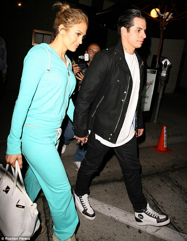 Date night: Jennifer headed out to dinner with boyfriend Casper Smart at Craig's in West Hollywood on Tuesday night after her appearance on American Idol