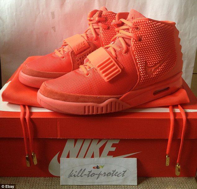Red riot: In February 2014 this Red October pair of Air Yeezy II's were released as a surprise for fans, igniting hysteria in the sneaker community
