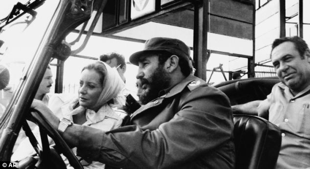 News correspondent Barbara Walters being driven around Cuba on a sightseeing tour by Castro in 1977. Other journalists to have met him say he seemed to live a simple, austere life
