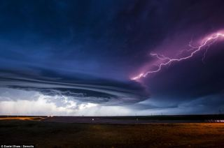 Awesome power: A mothership supercell terrified residents as it made its way across the High Plains in Nebraska