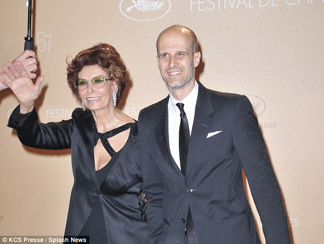 Back in Cannes: On Monday, Sophia attended a photocall in the French city on the arm of her director son Edoardo Ponti