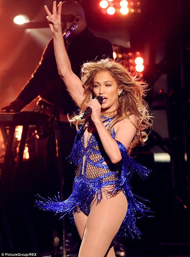 She's still got it: Lopez showed off her impressive dance moves on the finale