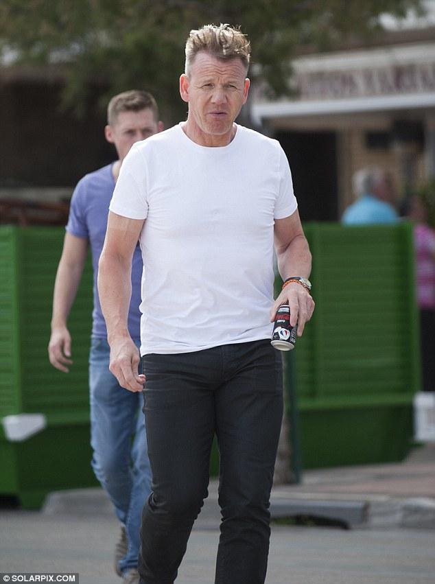 Gordon Ramsay Gives New Hairdo A Second Outing At Wembley