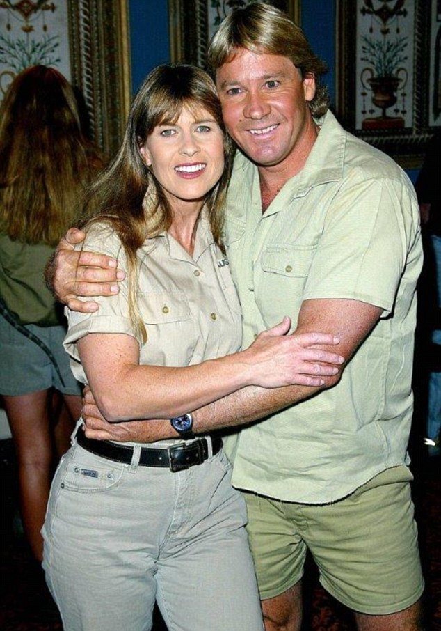 Image result for steve irwin and wife