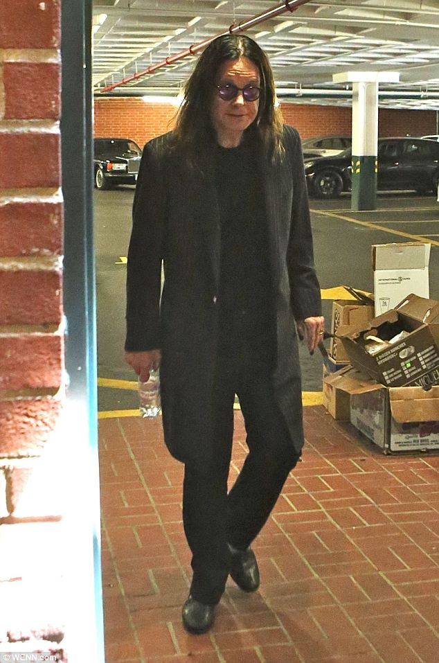 Recovering: Ozzy has reportedly been clean for a year after battling drink and drugs problems