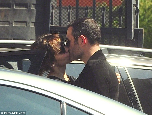 Caught: Katharine had already separated from Cokas, who is 19 years her senior, when she was spotted kissing her married Smash director Michael Morris in October of last year