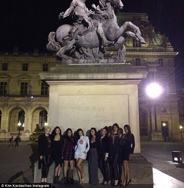 Statuesque: She captioned this photo: '#Bae'sInParis'
