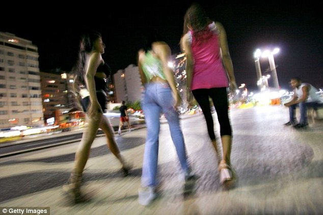 Fears: The World Cup is set to bring an epidemic of child prostitution to the streets of Brazil (file photo)