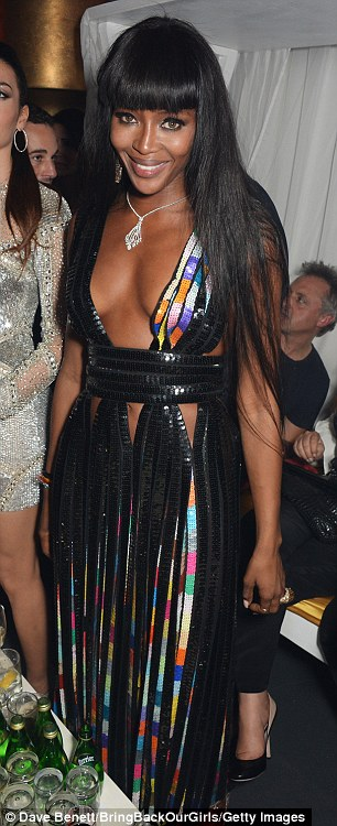 She doesn't age! Supermodel Naomi Campbell - who turned 44 Thursday - took the plunge in both Versace and Givenchy gowns for her birthday bash in Monaco Friday night