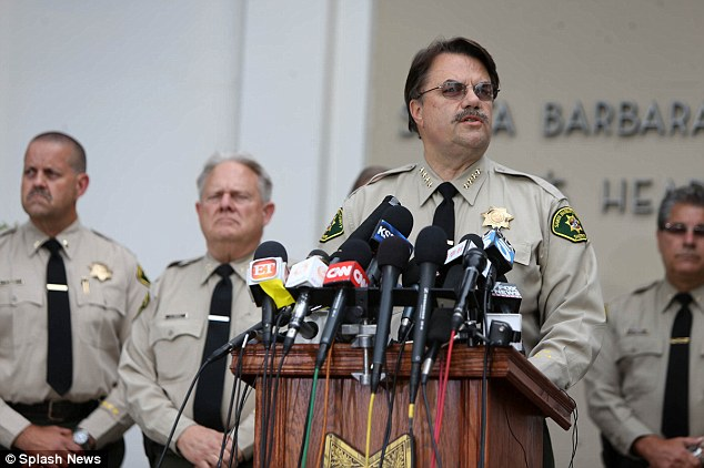 Familiar face: Santa Barbara County Sheriff Bill Brown said in a press conference his department had contacted Elliot Rodger on three separate occasions between July 2013 and April 2014