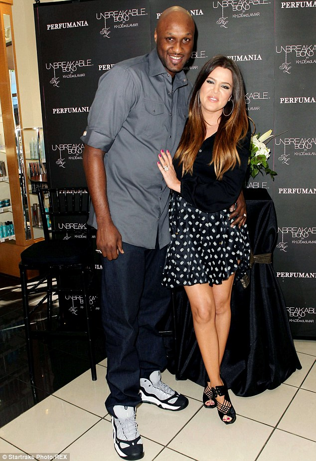 Happier times: Khloe Kardashian filed for a divorce from Lamar Odom on December 13, 2013