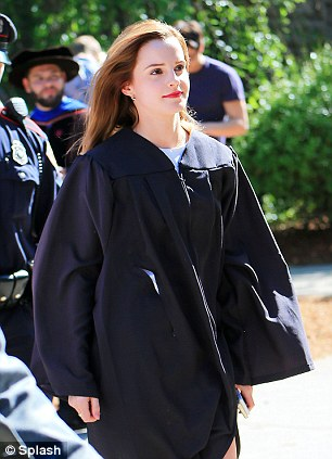 Long time coming:  The 24-year-old started at Brown in 2009, the same year she was named the highest-grossing actress of the decade by the Guinness Book of World Records