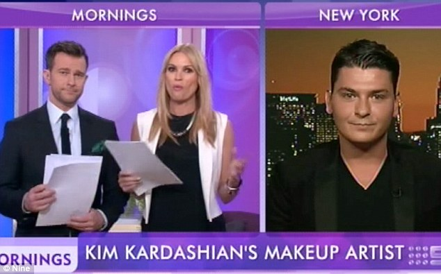 No nerves: 'I'm so comfortable with Kim's face,' Mario told presenters Sonia Kruger and David Campbell