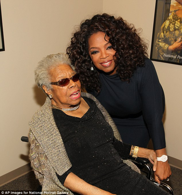 Pals: Angelou was a longtime friend and mentor to Oprah Winfrey - starring alongside her in the historic TV miniseries 'Roots'