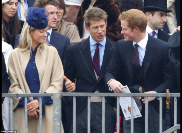 Prince Harry joined fellow officers and friends at a ...
