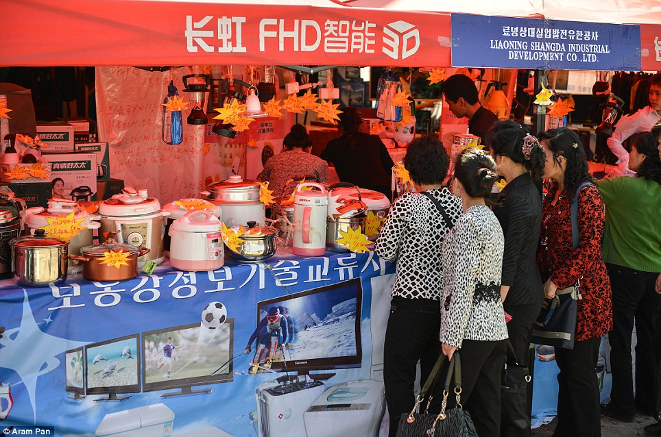Consumer goods, such as electrical rice cookers and other kitchen appliances, have begun to flood North Korea via China