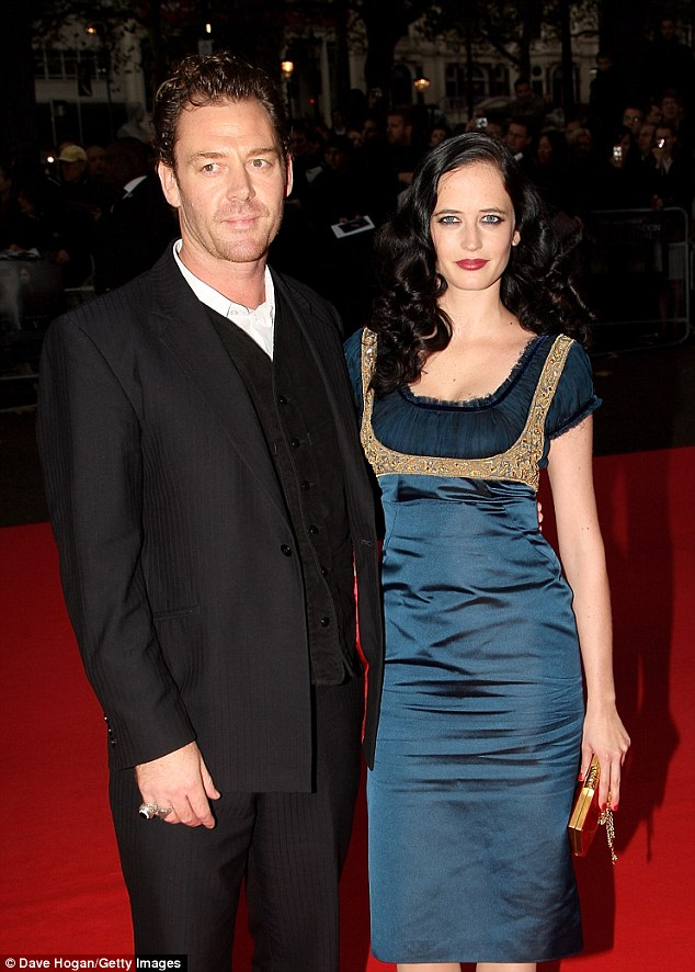Old flames: Green - who also worked on Frank Miller's 300: Rise of an Empire - will co-star with ex-boyfriend Marton Csokas (as Damien Lord) in the film, pictured here in 2008