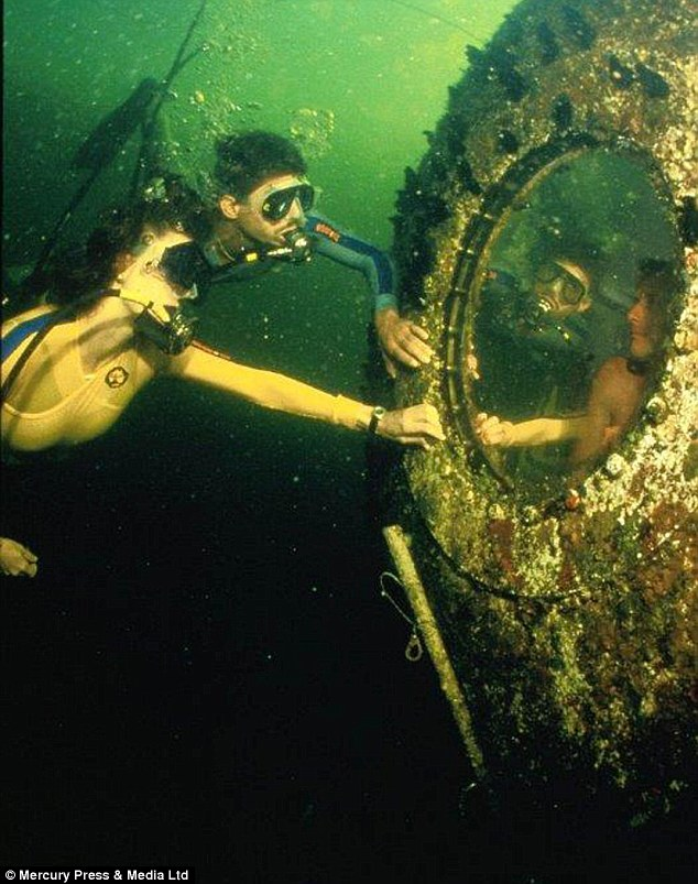Underwater hotel: Guests have to dive 21ft to reach Jules' Undersea Lodge in Key Largo, Florida