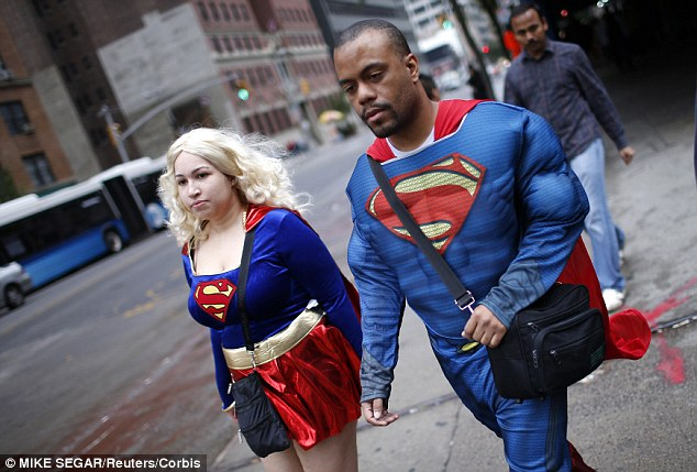 A new book by Professor Karen Pine from the University of Hertfordshire suggests that what you wear can boost or lower your self-esteem. She asked students in groups to wear Superman clothing and found they were more confident both mentally and physically (stock image shown)