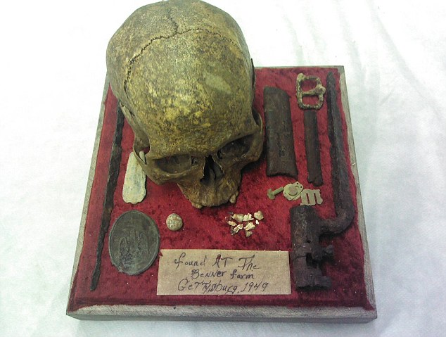 This skull is believed to belong to a soldier who died at the Battle of Gettysburg 150 years ago. It had been listed for auction