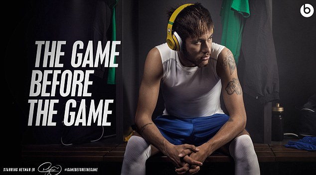 Extravaganza: Neymar leads a star-studded cast in the new Beats By Dre headphones advert